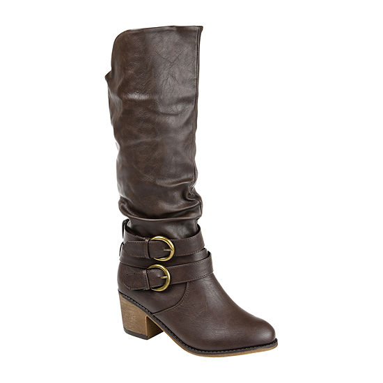 Journee Collection Womens Late Wide Calf Riding Boots