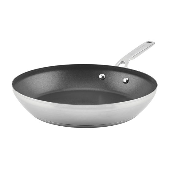 Kitchen Aid 3-Ply Stainless Steel Stainless Steel Dishwasher Safe Frying Pan