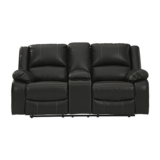 Signature Design by Ashley Calon Living Room Collection Pad-Arm Upholstered Loveseat