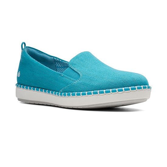 Clarks Womens Step Glow Round Toe Slip-On Shoe