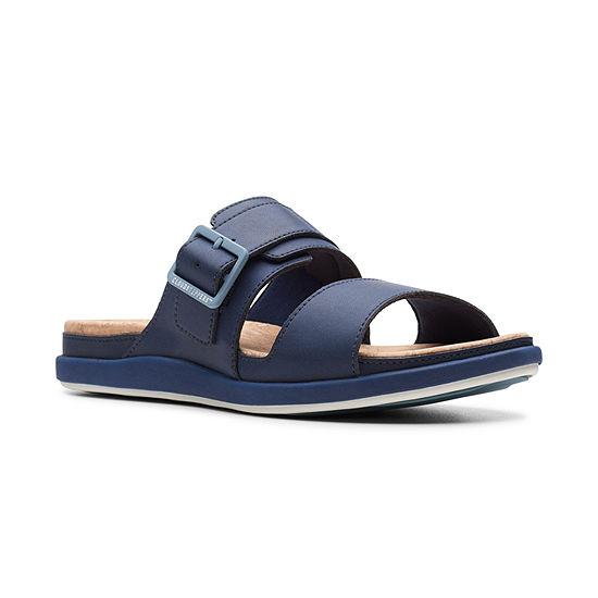 Clarks Womens Step June Tide Slide Sandals