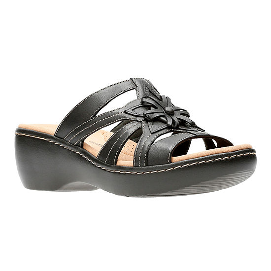 Clarks Womens Delana Venna Slide Sandals
