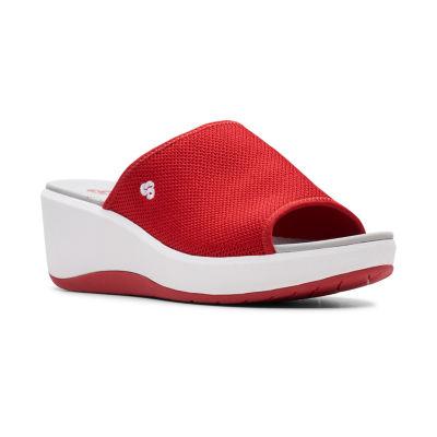 Clarks Womens Step Cali Bay Wedge Sandals
