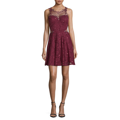 City Triangle Sleeveless Party Dress-Juniors