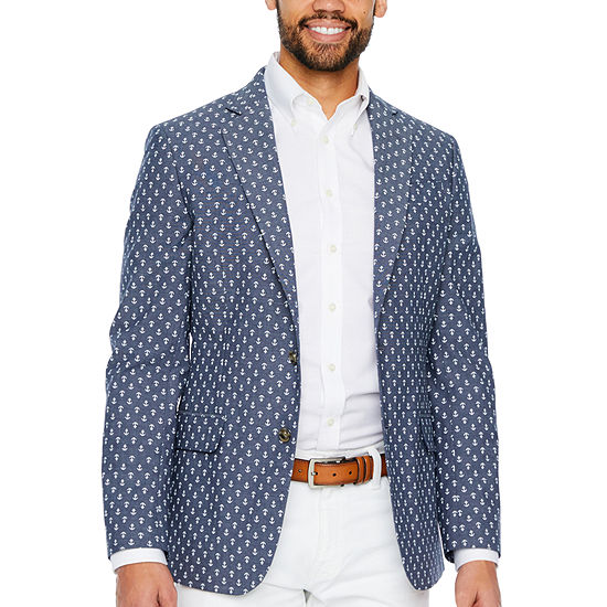 Stafford Cotton Anchor Classic Fit Sport Coat