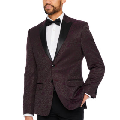 Collection by Michael Strahan Burgundy Paisley Classic Fit Sport Coat