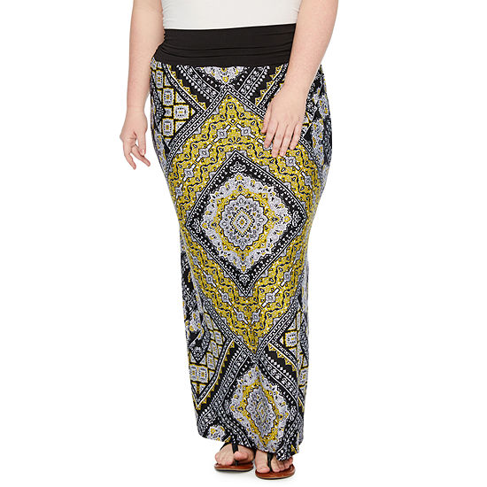 Alyx Womens Printed Maxi Skirt-Plus