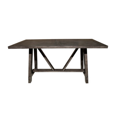 Farmhouse Style Rectangular Trestle Dining Table