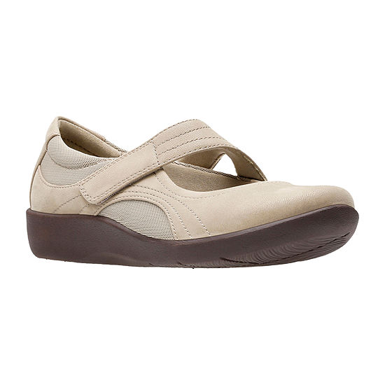 Clarks Womens Sillian Bella Hook and Loop Round Toe Mary Jane Shoes