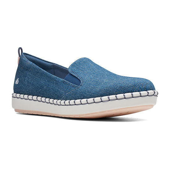Clarks Womens Step Glow Round Toe Slip-On Shoe