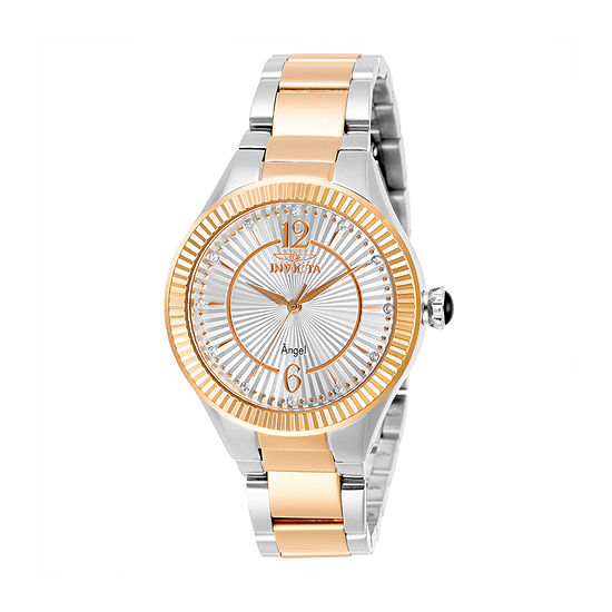 Invicta Angel Womens Two Tone Stainless Steel Bracelet Watch-28343