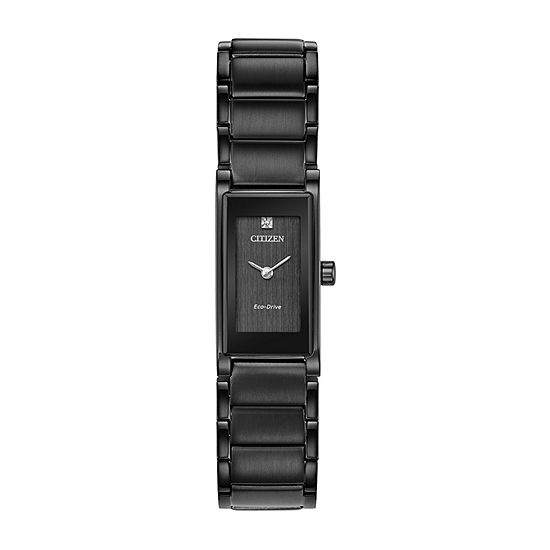 Citizen Axiom Womens Black Stainless Steel Bracelet Watch-Eg7055-51e