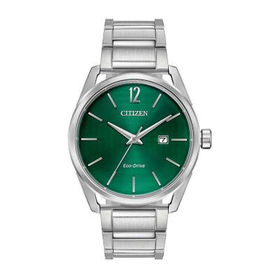 Drive from Citizen Assortment Mens Silver Tone Bracelet Watch-Bm7410-51x