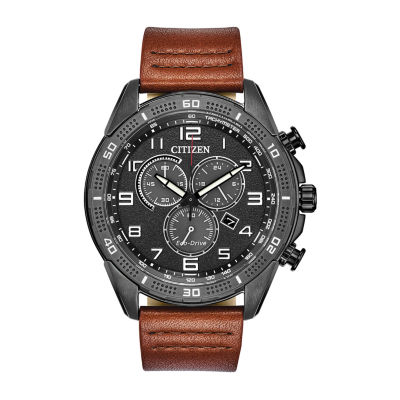 Drive from Citizen Eco-Drive Mens Brown Strap Watch-At2447-01e