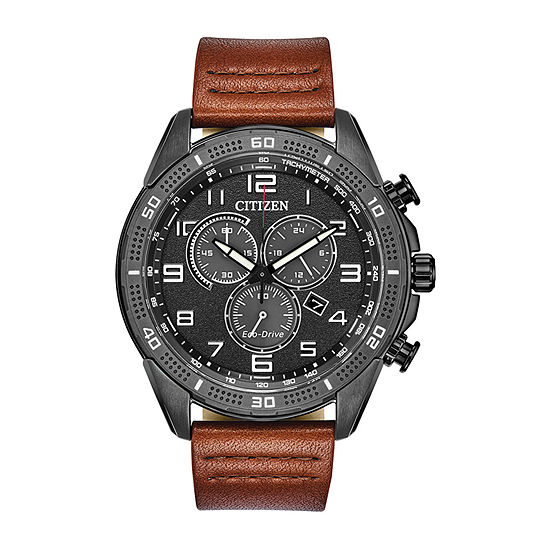Drive from Citizen Mens Chronograph Brown Leather Strap Watch-At2447-01e