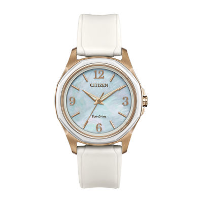 Drive from Citizen Eco-Drive Womens White Strap Watch-Fe7056-02d