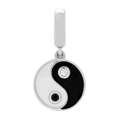 PS Personal Style White Cubic Zirconia Sterling Silver Yin Yang Charm