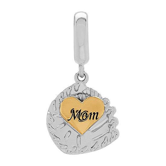 "PS Personal Style ""Baseball Mom"" Heart Charm"