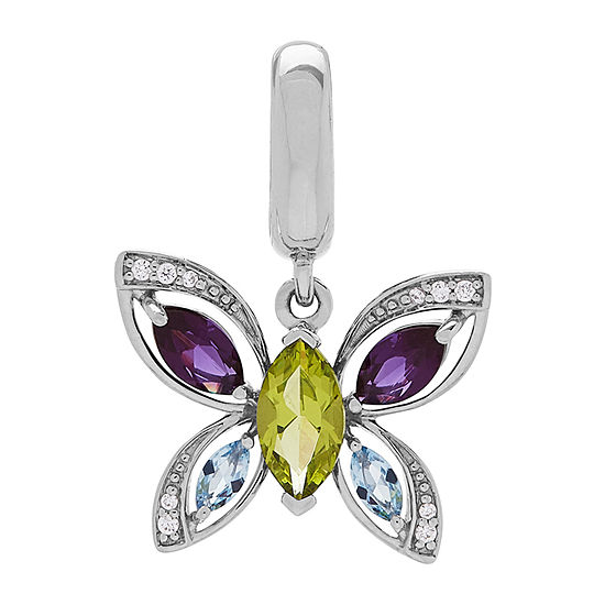 PS Personal Style Green Peridot Butterfly Charm