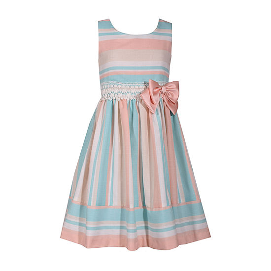 Bonnie Jean Girls Sleeveless Striped A-Line Dress - Toddler