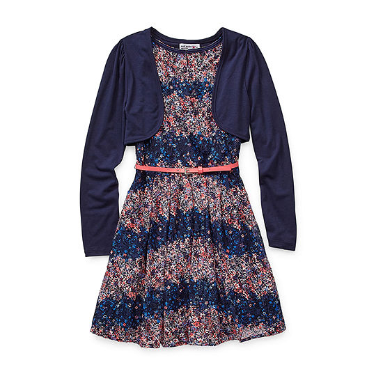 Knit Works Girls Sleeveless Dress Set - Preschool / Big Kid