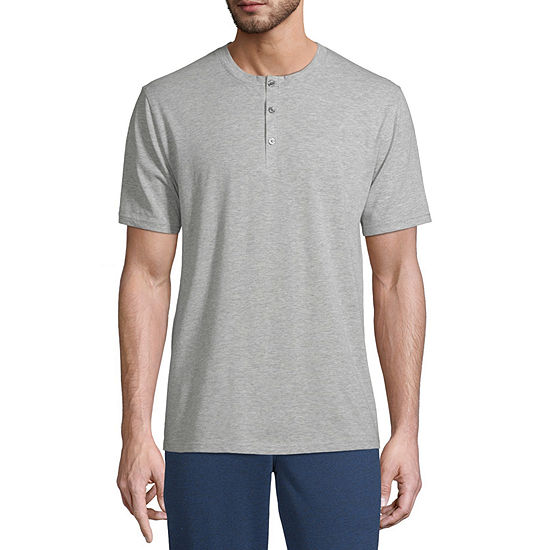 Stafford Mens Pajama Top Short Sleeve