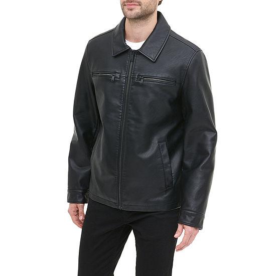 Dockers Faux Leather Open Bottom Jacket