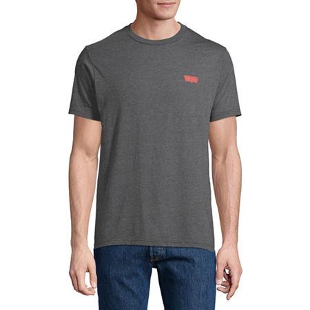 Levi's Men's Crew Neck Short Sleeve Graphic T-Shirt, Small , Black