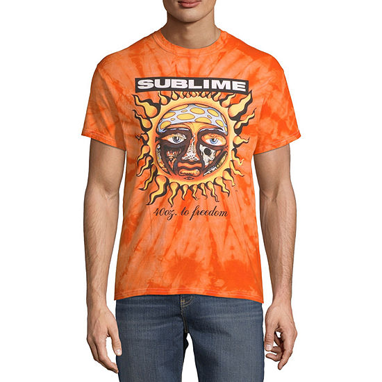 Sublime Mens Crew Neck Short Sleeve Music Graphic T-Shirt