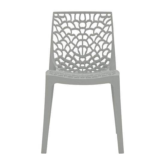 Resin Dining Chair Indoor Outdoor 2-Pack