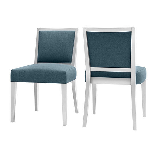 O'Neil White Frame Dining Chair 2-Pack
