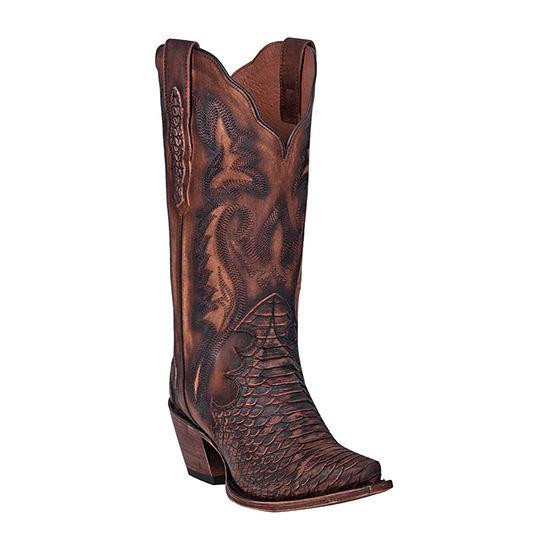 Dan Post Womens Lauryn Block Heel Cowboy Boots