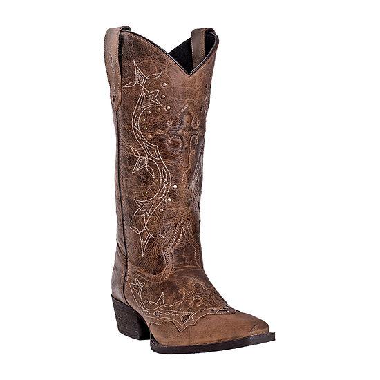 Laredo Womens Cross Point Block Heel Cowboy Boots