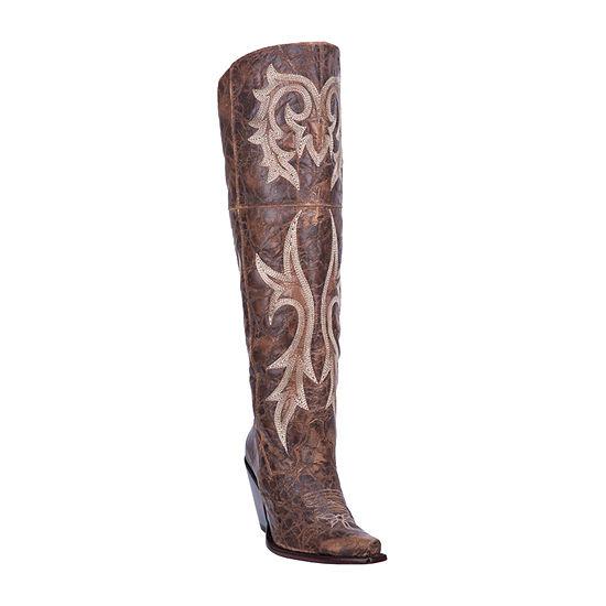 Dan Post Womens Jilted Block Heel Cowboy Boots
