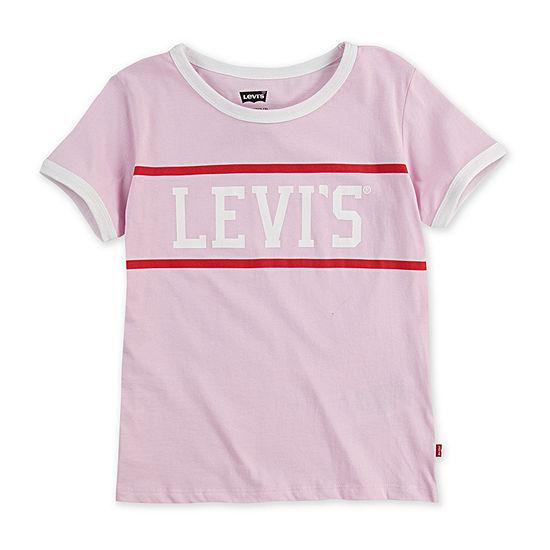 Levi's - Big Kid Girls Round Neck Short Sleeve Graphic T-Shirt