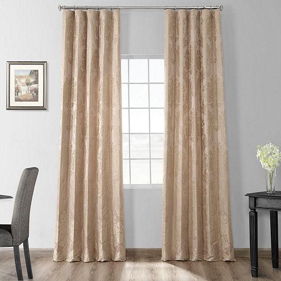 Exclusive Fabrics & Furnishing Magdelena Faux SilkJacquard Curtain Panel