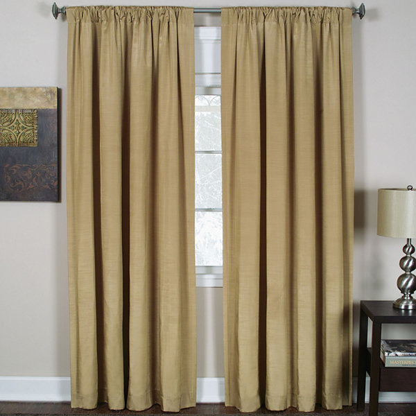 Cachet 3-in-1 Rod-Pocket/Back-Tab/Tab-Top Curtain Panel