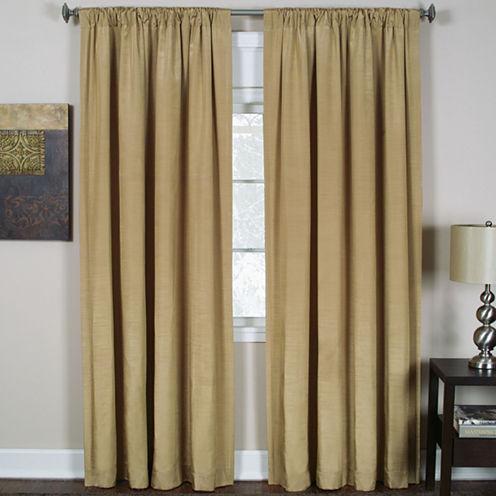 Cachet 3-in-1 Rod-Pocket/Back-Tab/Tab-Top Curtain Panel