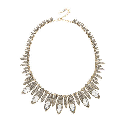 Natasha Oval Crystal Pavé Necklace