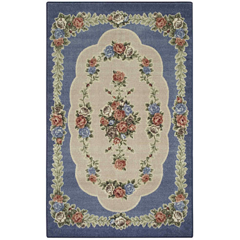 Rosewood Washable Rectangular Rug