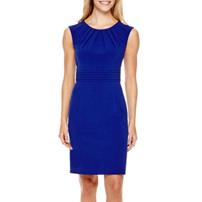 CHELSEA ROSE SLEEVELESS RUCHED WAIST SHEATH