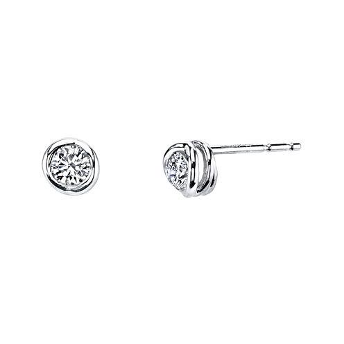 Sirena™ 1/4 CT. T.W. Diamond 14K White Gold Stud Earrings