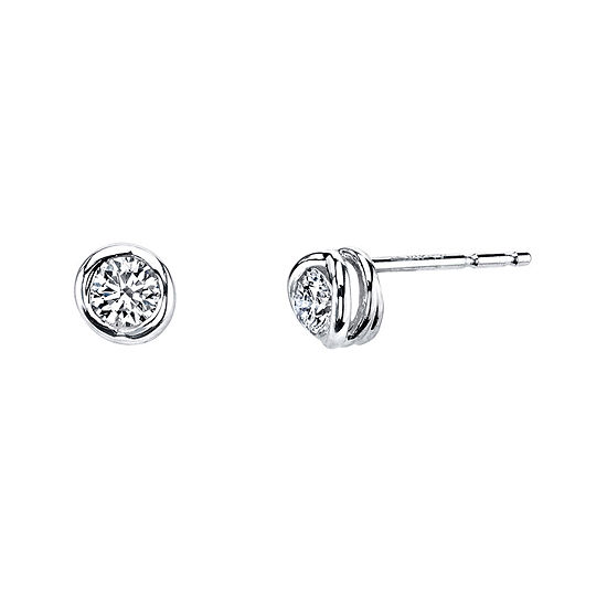 Sirena™ 1/4 CT. T.W. Diamond 14K White Gold Stud Earrings