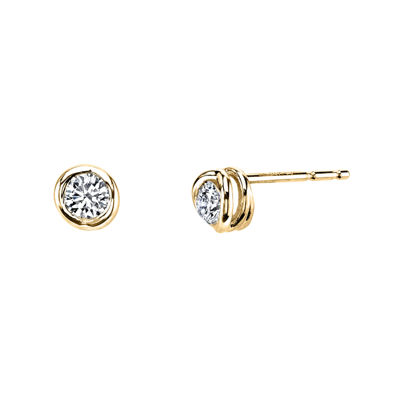 Sirena® 1/5 CT. T.W. Diamond 14K Yellow Gold Stud Earrings