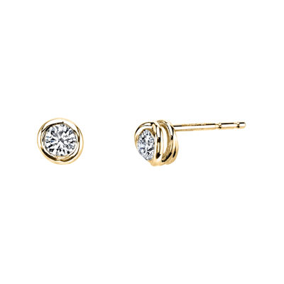 Sirena™ 1/4 CT. T.W. Diamond 14K Yellow Gold Stud Earrings