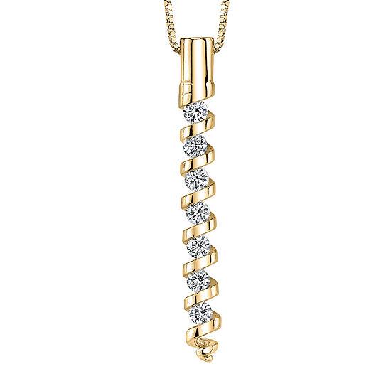 Sirena™ 1/4 CT. T.W. Diamond 14K Yellow Gold Pendant Necklace