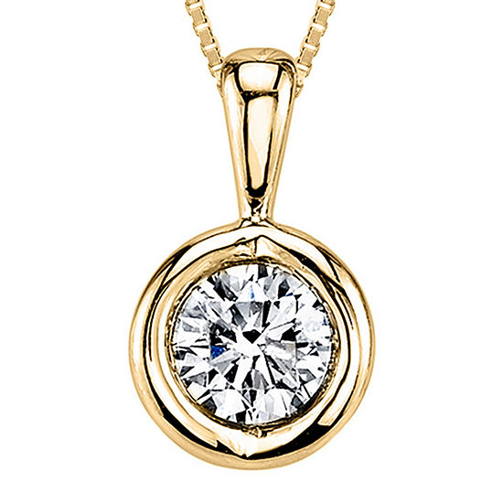 Sirena®  T.W. Diamond 14K Yellow Gold Pendant Necklace