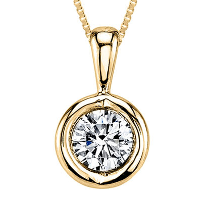 Sirena® 1/5 CT. T.W. Diamond 14K Yellow Gold Pendant