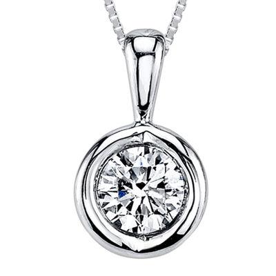 Sirena™ 1/8 CT. T.W. Diamond 14K White Gold Pendant Necklace