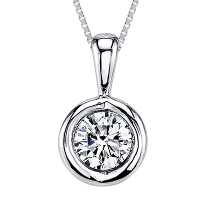 Sirena™ 1/5 CT. T.W. Diamond 14K White Gold Pendant Necklace